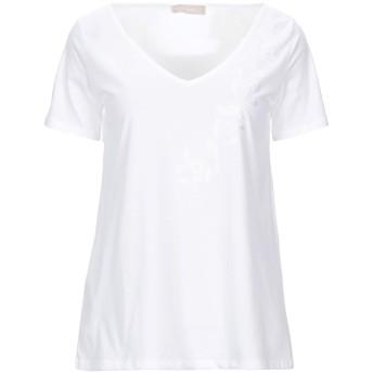 《セール開催中》STEFANEL レディース T シャツ ホワイト XL コットン 100%