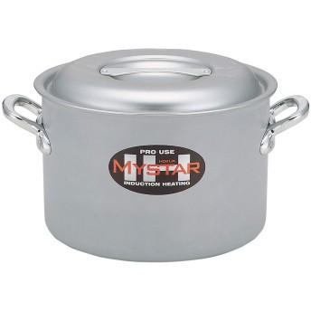 北陸アルミニウム 業務用 マイスター半寸胴鍋 39㎝ IH対応 アルミニウム合金 日本 AHV9208