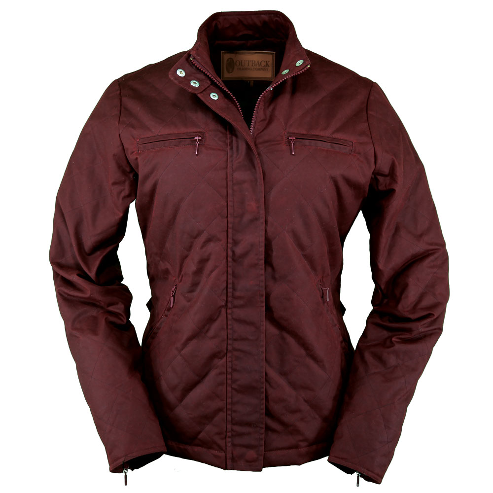 Outback Stormy Oilskin Jacket - Womens Oilskin Jacket