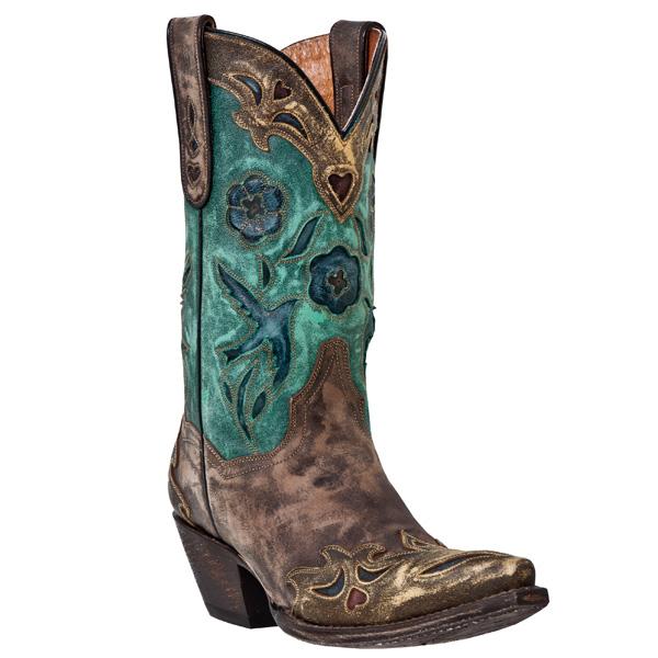 Dan Post Vintage Blue Bird - Womens Cowboy Boots