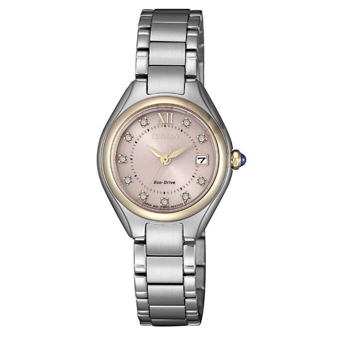 CITIZEN 星辰錶 EW2546-87X LADY'S系列 時尚典雅光動能女錶 /粉紅色面 26mm