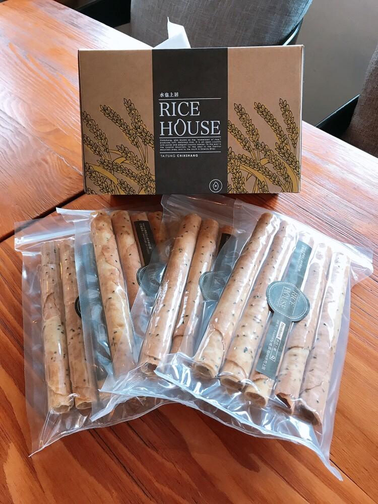 池上鄉伴手禮池上米製-純手工糙米芝麻米蛋捲