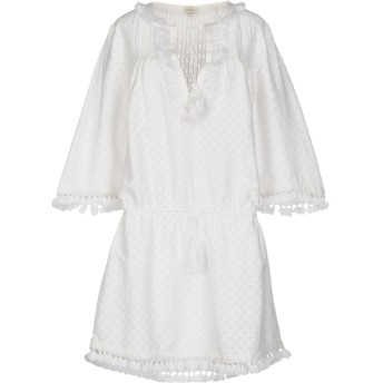 《セール開催中》TALITHA レディース ミニワンピース&ドレス ホワイト XS コットン 74% / シルク 26%