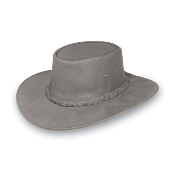 "Minnetonka ""Fold Up"" Hat - Leather Australian Hat"