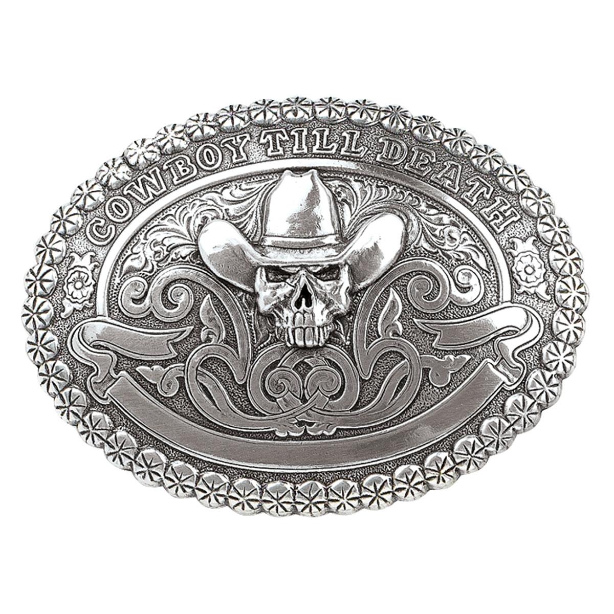 Crumrine Cowboy Till Death - Belt Buckle