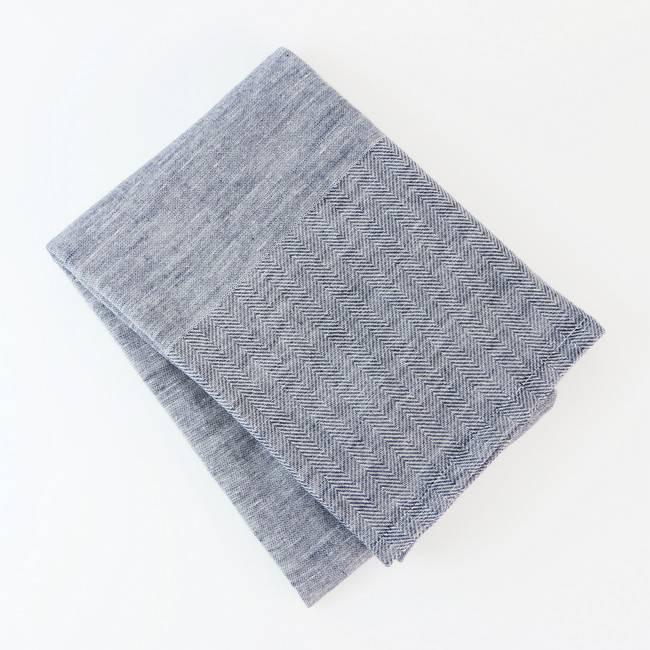 伊織海洋印度棉浴巾/ 海軍藍