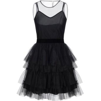 《セール開催中》SOUVENIR レディース ミニワンピース&ドレス ブラック S ナイロン 100% / ポリエステル
