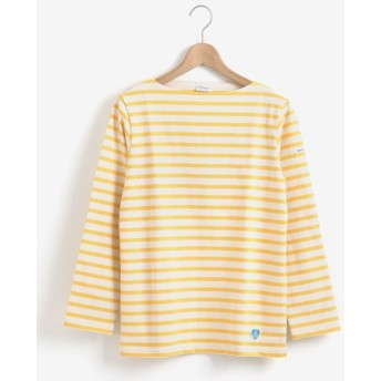 le. coeur blanc/ルクールブラン ORCIVAL COTTON LOURD ボーダーTシャツ イエロー柄 38