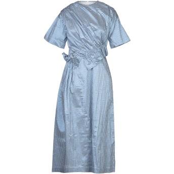 《セール開催中》MOTHER OF PEARL レディース 7分丈ワンピース・ドレス ブルー 8 ポリエステル 48% / コットン 40% / 金属化ポリエステル 12%