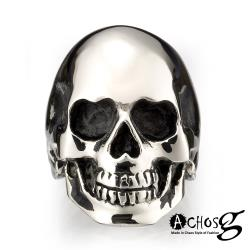 ACHOS【Skulls水晶骷髏A】潮流西德鋼戒