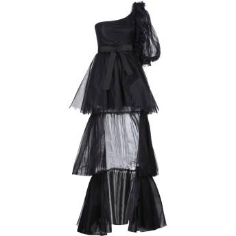 《セール開催中》SOALLURE レディース ロングワンピース&ドレス ブラック 38 ナイロン 100% / ポリエステル