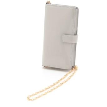 74%OFF COOCO (クーコ) エナメル風スマホ&カードショルダーバッグ グレー