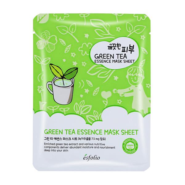韓國esfolio 高效精華面膜-綠茶 25ml
