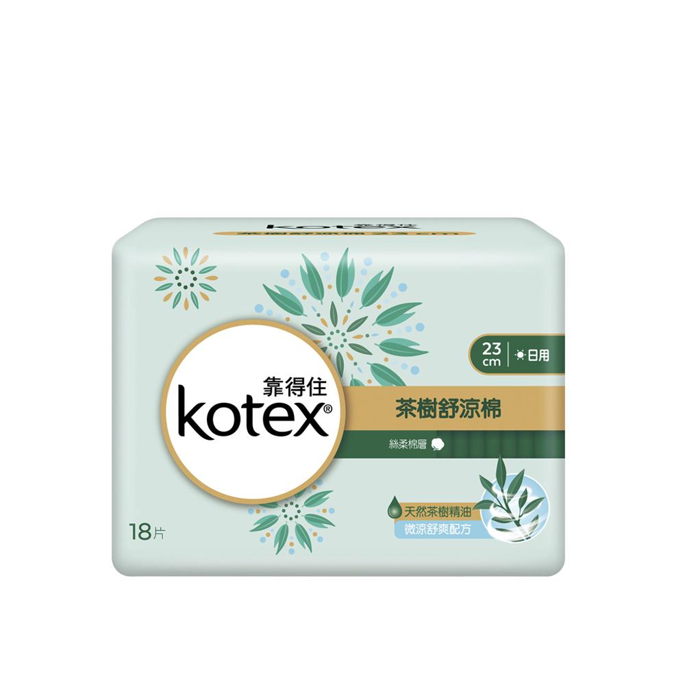 靠得住 茶樹舒涼棉日薄23cm (18片x6包)