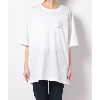 ネ・ネット にゃー / おーばーにゃーT / Tシャツ レディース ホワイト 02 【Ne-net】