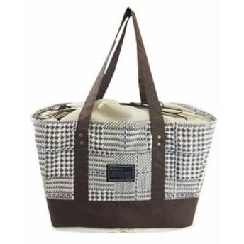 アットファースト お買い物バッグ グレンチェック ブラウン AF6229