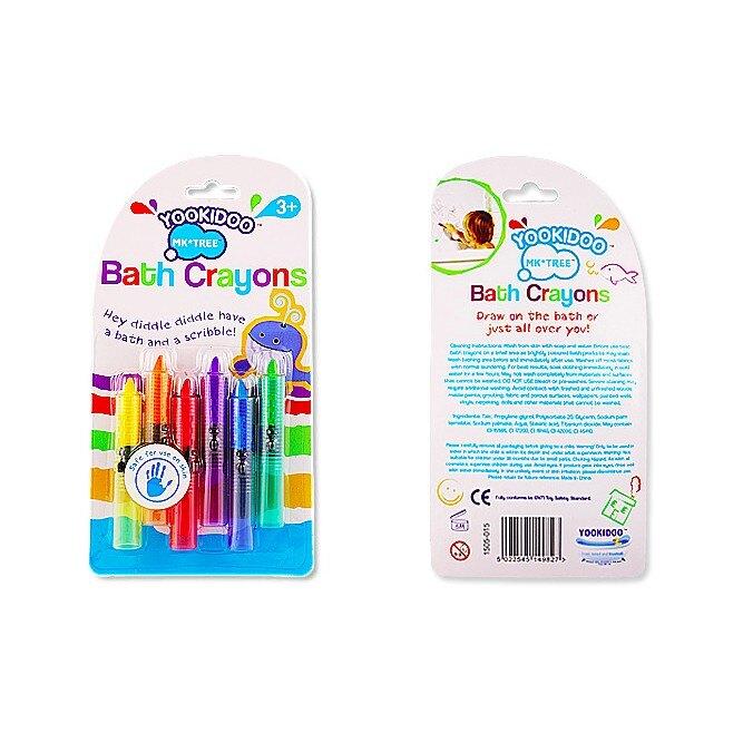 yookidoo 可擦拭安全無毒蠟筆 一組6色 現貨