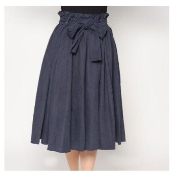 スタイルブロック STYLEBLOCK ボリュームフレアプリーツスカート (ネイビー)
