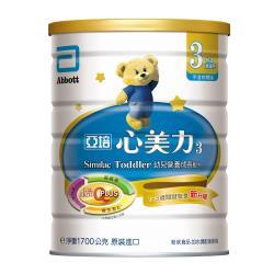 亞培 心美力3號 幼兒營養成長配方(新升級)(1700gx3罐)+(贈品)N次貼大尺寸著色畫軸(四款隨機出貨)