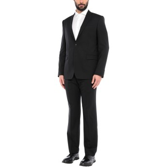《セール開催中》VERSACE COLLECTION メンズ スーツ ブラック 50 ウール 100%