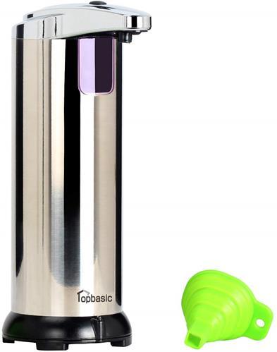 【日本代購】topbasic 自動感應出液排出量段可調節 CE 認證不銹鋼製250ml 銀