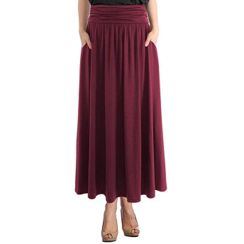 女性のファッションハイウエスト汚いレトロな緩いビーチポケットラップマキシドレス2020新しいスカートハイウエストスカート チュールスカート ふんわり無地優雅 おしゃれ