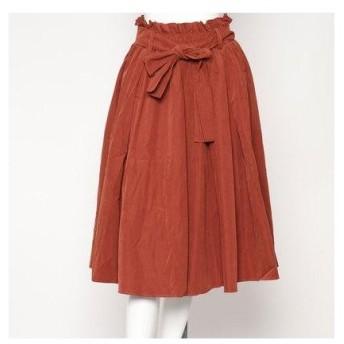 スタイルブロック STYLEBLOCK ボリュームフレアプリーツスカート (ブラウン)