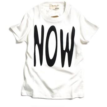 (MB2/エムビーツー)シンプルロゴ 半袖Tシャツ/ オフホワイト