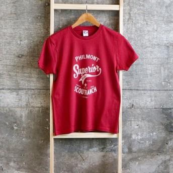 半袖Tシャツ アメカジ カレッジロゴ お揃いコーデ メンズ レディース キッズ バーガンジー 送料無料 019