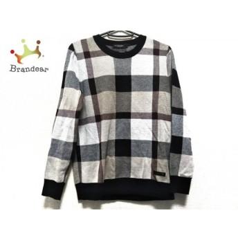 ブラックレーベルクレストブリッジ 長袖セーター サイズ2 M レディース 美品 チェック柄 新着 20200303