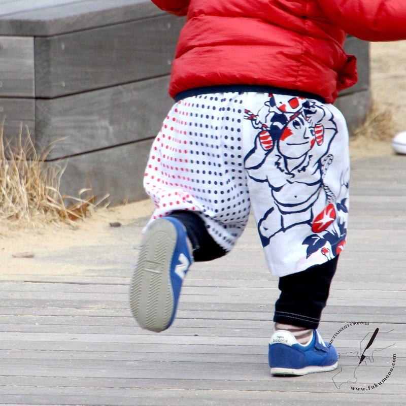 Tenugui褲子博多節日圖案