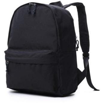 新しいカジュアルオックスフォード布バックパック男性と女性の学生ランドセルバックパック潮旅行バッグ (従来型(ブラック))