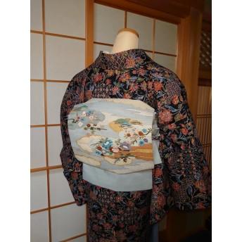 帯を切らない作り帯(さくら造り帯)・洒落袋帯・正絹 ・新品