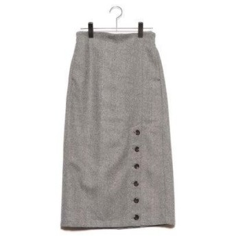 スタイルブロック STYLEBLOCK ツイードヘリンボーンタイトスカート (グレー)