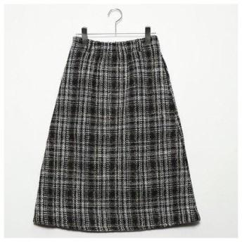 スタイルブロック STYLEBLOCK オーバーチェックフロントジップスカート (ベージュ)