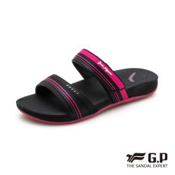 G.P 女款輕量極柔軟舒適雙帶拖鞋G0559W-黑桃色(SIZE:36-39 共二色)