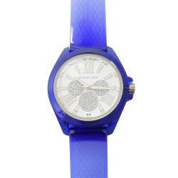 MICHAEL KORS MK6680 Wren 三眼水鑽計時型時尚手錶.藍