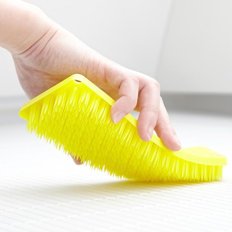 tidy抗菌萬用刷(衛浴/地板)X2 白色X1+黃色X1