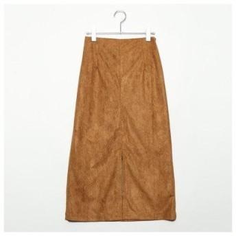 スタイルブロック STYLEBLOCK フェイクスウェードタイトスカート (キャメル)