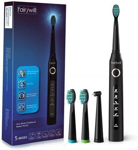 【日本代購】Fairywill 電動牙刷 聲波牙刷 充電式 聲波 IPX7防水 USB充電