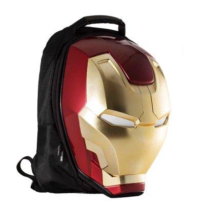正品授權 鋼鐵人3D觸摸感應發光立體電腦包雙肩背包旅行休閒書包