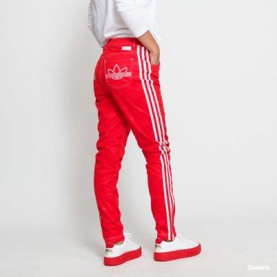 愛運動 嚴選 adidas 愛迪達 x Fiorucci 紅 聯名 休閒 牛仔褲 長褲 女款 EK4786