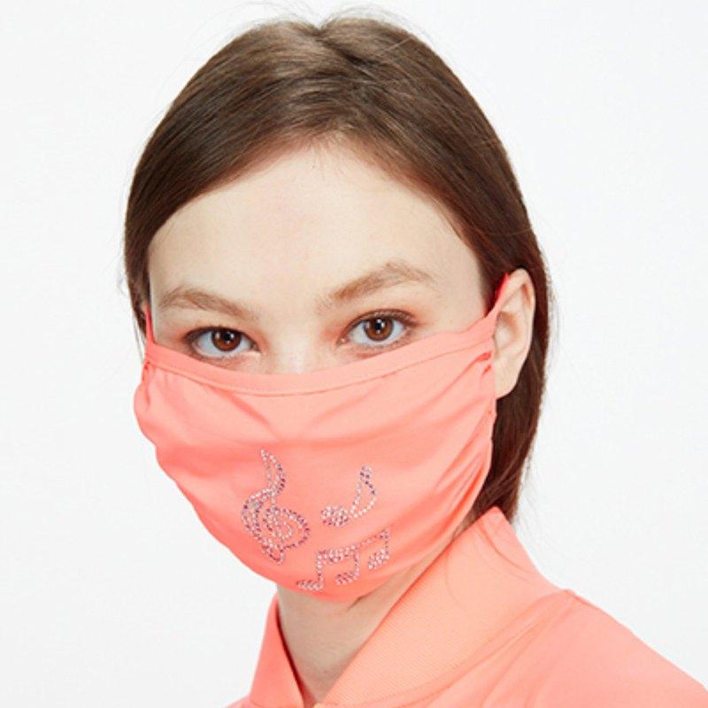 【HOII后益】防曬經典復刻音符口罩-紅