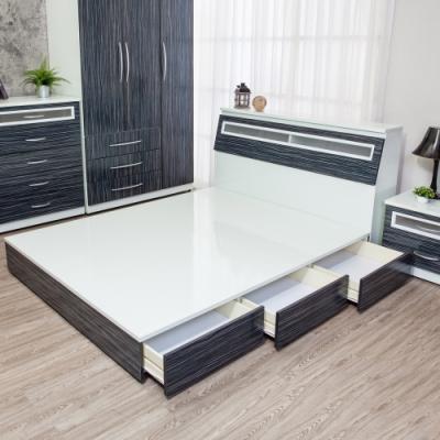 Birdie南亞塑鋼 3.5尺單人三抽屜收納塑鋼床底 不含床頭箱 鐵刀木色