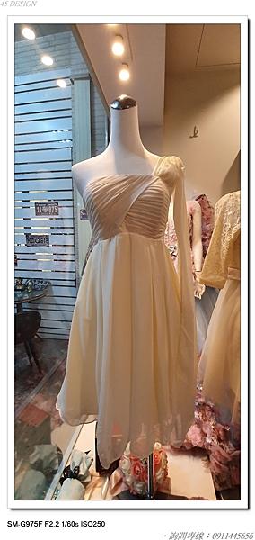 (45 Design高雄實體店面) 現貨零碼-極速出貨-特賣出清 大尺寸 小尺寸洋裝 短禮服 媽媽服伴娘 S74