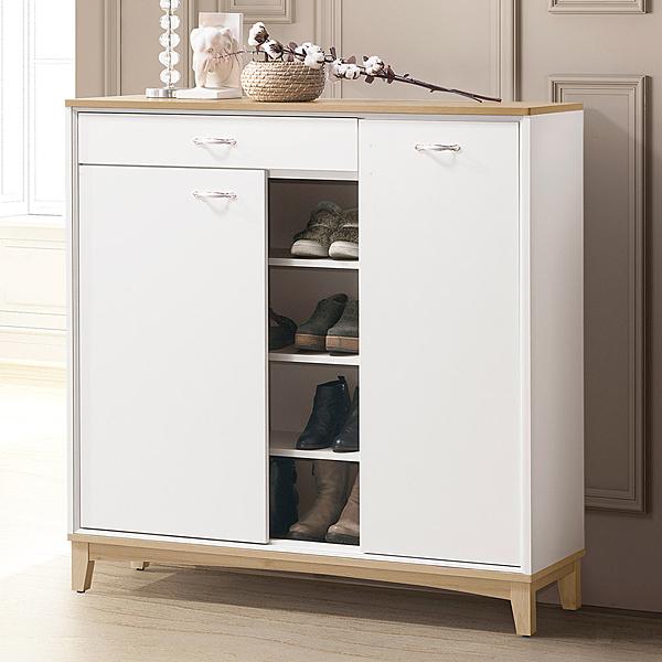 YoStyle 伊麗莎4尺半開放鞋櫃 置物櫃 邊櫃 收納櫃 北歐風 新房 嫁妝 專人配送