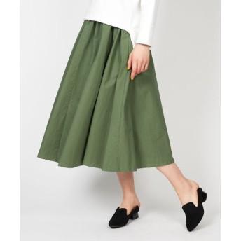 NIMES/ニーム カラーボトムスギャザースカート グリーン 0