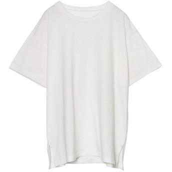 リエディ Re: EDIT [人と地球に優しい]シンプルビッグTシャツ (ホワイト)
