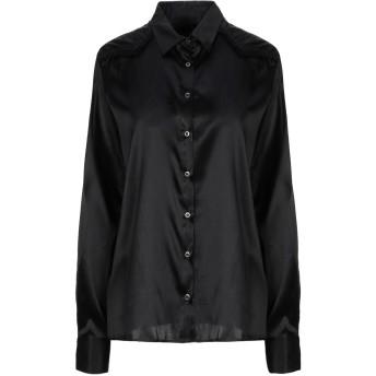 《セール開催中》MESSAGERIE レディース シャツ ブラック 44 シルク 93% / ポリウレタン 7%