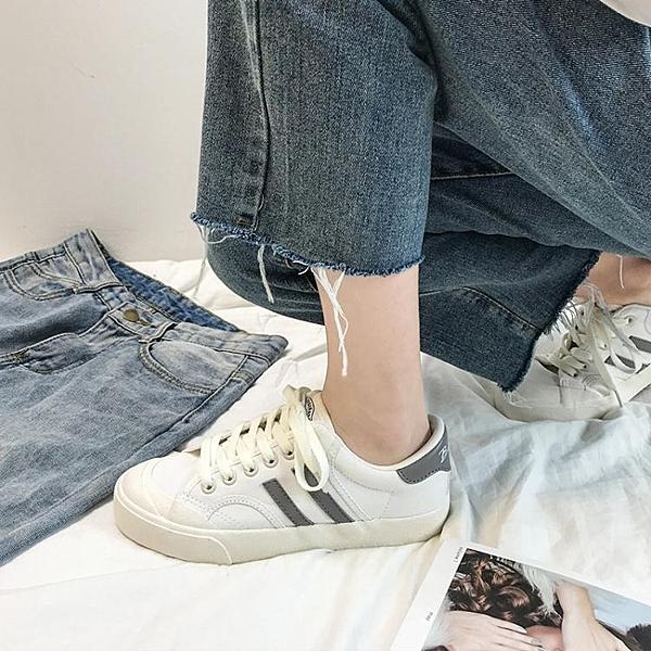 小白鞋女鞋新款百搭學生ins街拍帆布潮鞋ulzzang板鞋 夏季新品